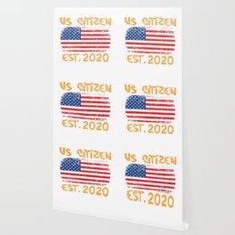 "American Flag Shirt Theme Saying ""US Citizen EST. 2020"" T-shirt Design Shirt For American Citizens Wallpaper"
