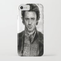 sherlock holmes iPhone & iPod Cases featuring Sherlock Holmes by ChrisPastel