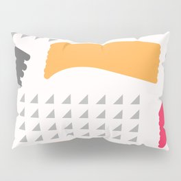 Modern triangles and happy colors Pillow Sham