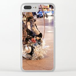 Performance Art on the Streets of Bucktown, Chicago 02 Clear iPhone Case