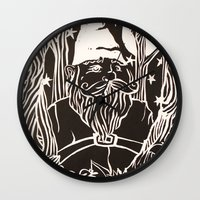 gnome Wall Clocks featuring Gnome by Aubree Eisenwinter