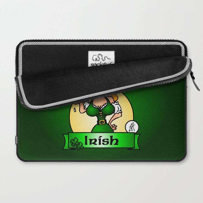 St. Patrick's Day Irish Maiden Laptop Sleeve