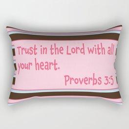 Proverbs 3:5 Ice cream Stripe Rectangular Pillow