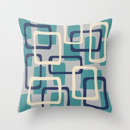 Mid Century Modern Overlapping Squares Pattern 138 Throw Pillow