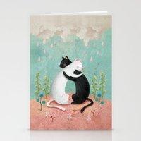 hug Stationery Cards featuring hug by bonnyart