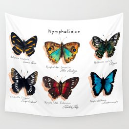 Nymphalidae butterflies Wall Tapestry