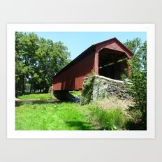A Bridge in the Country Art Print
