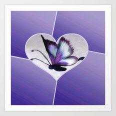Butterfly Love - Purple Art Print