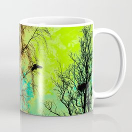 The Bird, the Nest and the Spooky Trees Coffee Mug