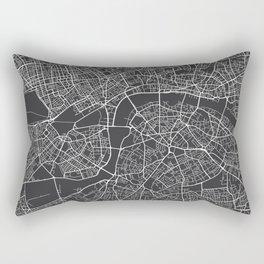 London Map, England - Gray Rectangular Pillow