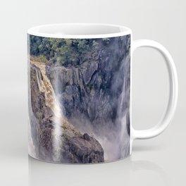 Powerful water going over the falls Coffee Mug