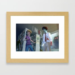 Unlife: Bloody Library Framed Art Print