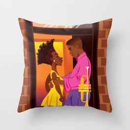 Bleek and Indigo Throw Pillow