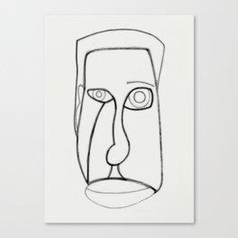 Facial Features grey Canvas Print