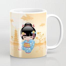Japanese Maiko Kokeshi Doll Coffee Mug
