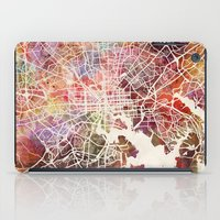 baltimore iPad Cases featuring Baltimore map by MapMapMaps.Watercolors