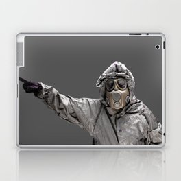 Protection Suit And Gas Mask Laptop & iPad Skin