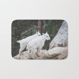 Baby Mountain Goats - Black Hills National Forest Bath Mat