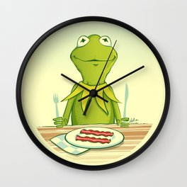 Kermit Loves Facon Wall Clock