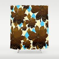 magnolia Shower Curtains featuring Magnolia  by Saundra Myles