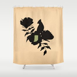 Indiana - State Papercut Print Shower Curtain