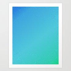 bluegreen Art Print