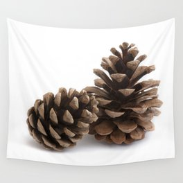 Two pinecones Wall Tapestry