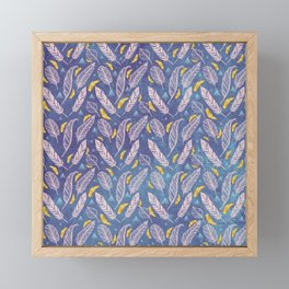 Royal Feather Pattern Framed Mini Art Print