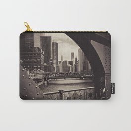 Up The Chicago River Carry-All Pouch