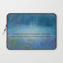 Serenity Prayer Blue Marsh Laptop Sleeve