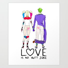 LOVE is no BUTT Joke - Handwritten Art Print