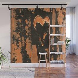 Liquid Copper Gothic Heart   Corbin Henry Wall Mural