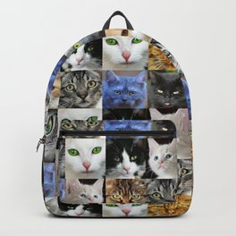 Cat Face Collage Backpack