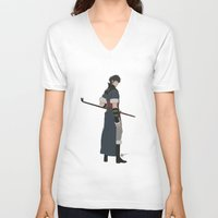 fire emblem V-neck T-shirts featuring Lon'Qu - Fire Emblem Awakening  by MKwon