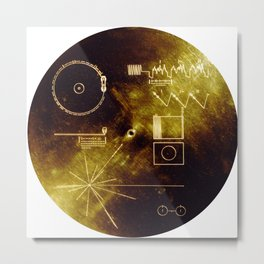 The Voyager Gold Record Metal Print