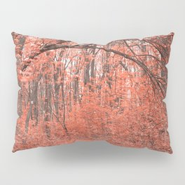 Forest Arch Trail - Salmon Pink Pillow Sham