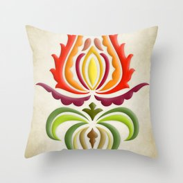 Fancy Mantle on Vintage Background Throw Pillow