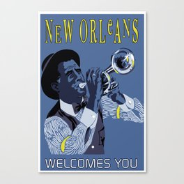 New Orleans welcomes you Canvas Print