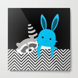 conill i mapache Metal Print