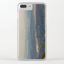 Sunset Italian countryside landscape view Clear iPhone Case