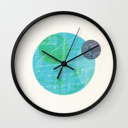 Earth I Wall Clock