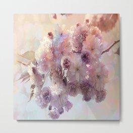 Vintage Beauty, Flower Blossoms Metal Print