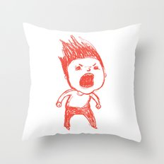 Angry Guy Throw Pillow