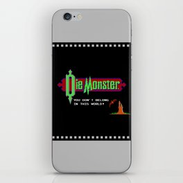 Castlevania - Die Monster. You Don't Belong In This World! iPhone Skin