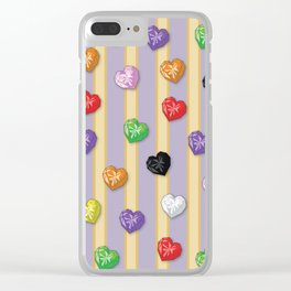 Sugar Sugar Rune Crystal Hearts Clear iPhone Case