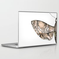 moth Laptop & iPad Skins featuring Moth by Raffles Bizarre