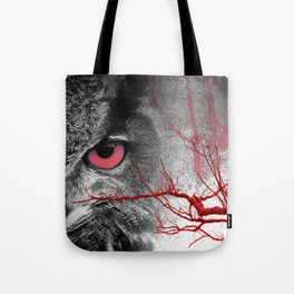 Pink-Eyed Owl & the Fanciful Forest Tote Bag