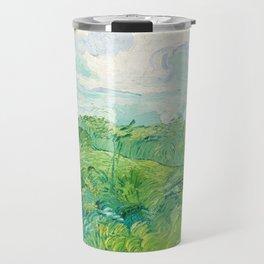 Green Wheat Fields - Auvers, by Vincent van Gogh Travel Mug