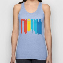 Retro 1970's Style Phoenix Arizona Skyline Unisex Tank Top