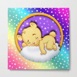 baby bear sleep Metal Print